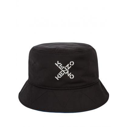 Black Sport 'Little X' Bucket Hat