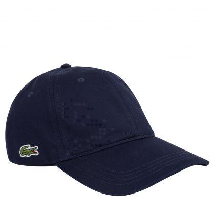 Navy Blue Contrast Strap Cotton Cap