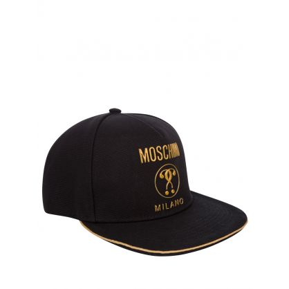 Black Double Question Mark Logo Cap
