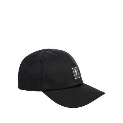 Black Bolt Badge Six-Panel Cap
