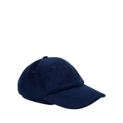 Navy Beesley Towelling Cap