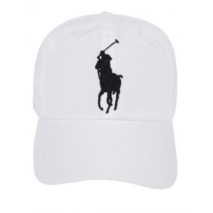 White Classic Logo Sports Cap