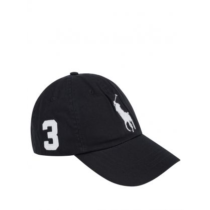 Black Classic Logo Sports Cap