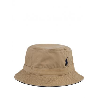 Brown Polo Player Bucket Hat