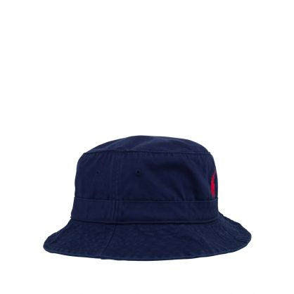 Navy Cotton Chino Bucket Hat
