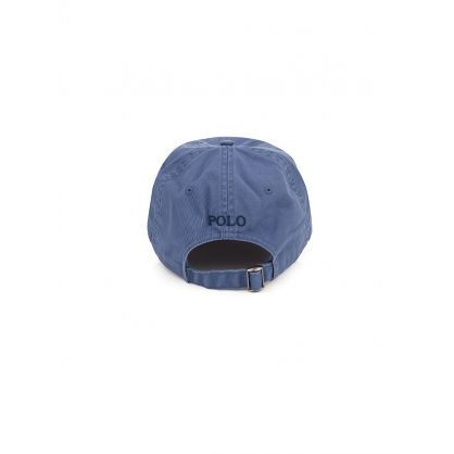 Blue Cotton Chino Cap