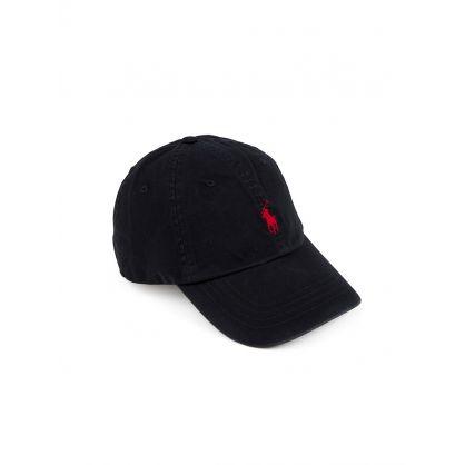 Black Cotton Chino Cap