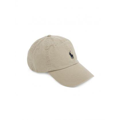 Beige Cotton Chino Cap