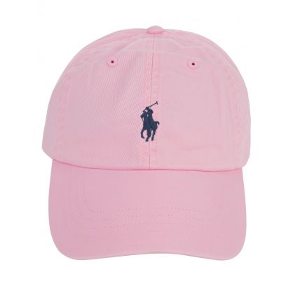 Pink Cotton Twill Cap