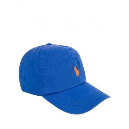 Blue Cotton Twill Logo Cap