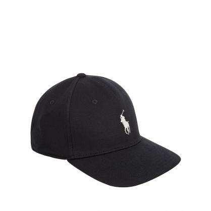 Black Knit Logo Cap