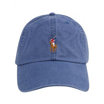 Blue Stretch-Cotton Twill Ball Cap
