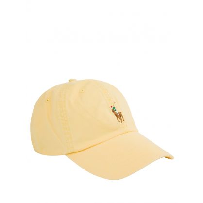 Yellow Stretch-Cotton Twill Ball Cap