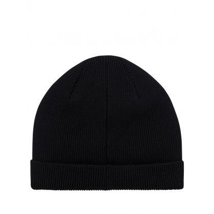 Black Zebra Beanie Hat