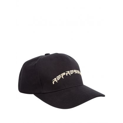 Black Curve Logo Cap