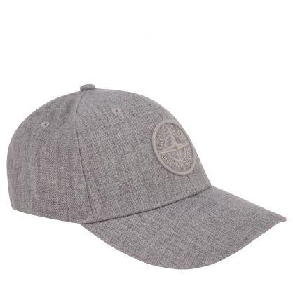 Grey Embroidered Compass Logo Cap