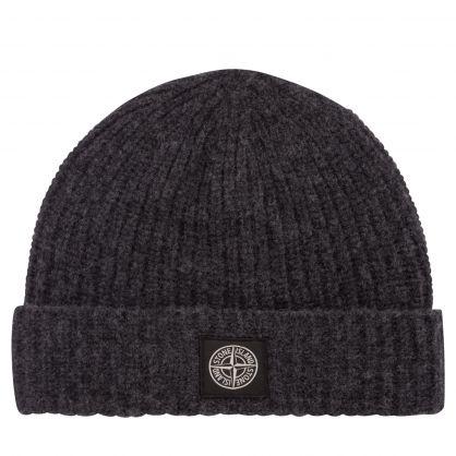 Charcoal Wool Compass Logo Beanie Hat