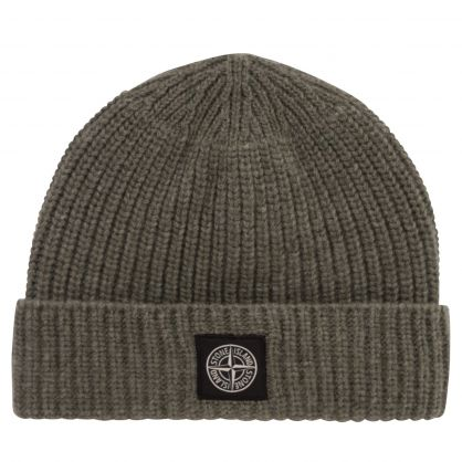 Green Geelong Wool Beanie Hat