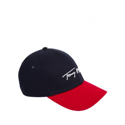 Navy/Red Signature Cap