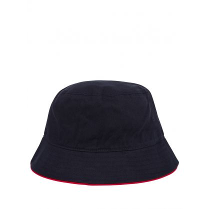 Navy Signature Contrast Brim Bucket Hat