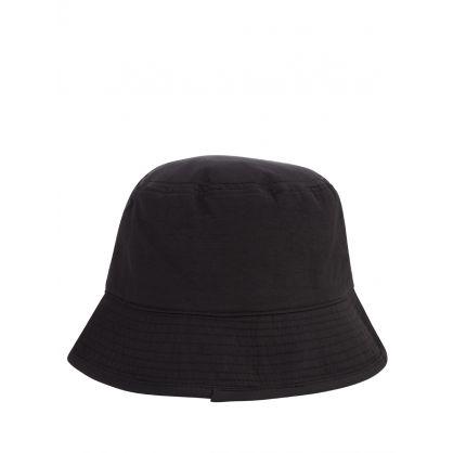 Black Embroidered Bucket Hat
