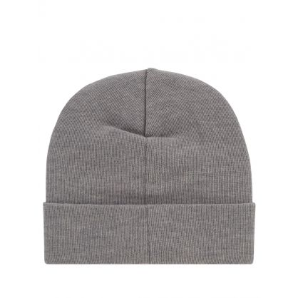 Grey Double A Gerald Tall Beanie Hat