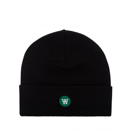 Black Double A Gerald Tall Beanie Hat