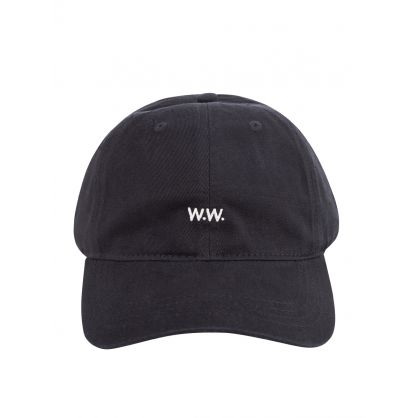 Black Low-Profile Logo Cap