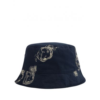 Navy Graphic Bucket Hat