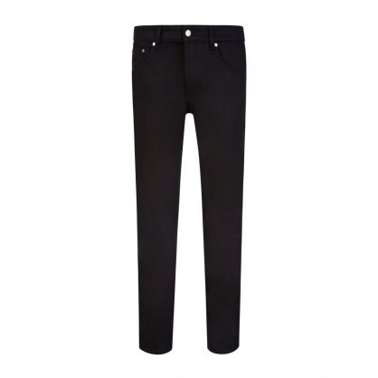 AMI Black Slim-Fit Stretch Jeans