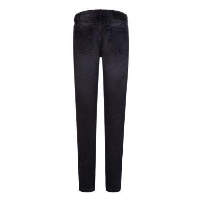 AMI Black Fit 5 Pocket Jeans