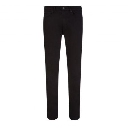 Black Slim-Fit Stretch Denim 708 Jeans
