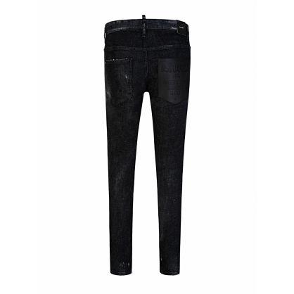 Black Glitter Stud Skater Jeans