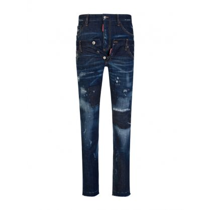 Blue Straight Leg Wash Sharpei Jeans Twin Pack