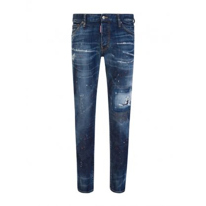 Blue Paint Splatter Cool Guy Jeans