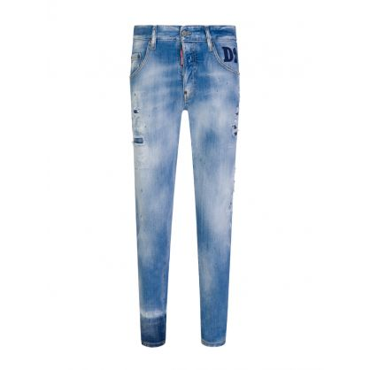 Blue Light Wash Skater Jeans