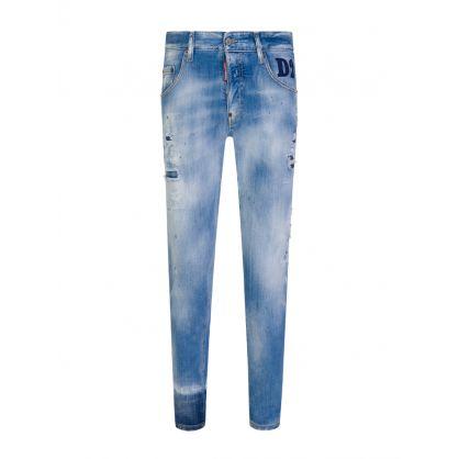 Blue Light Wash Skater Jeans