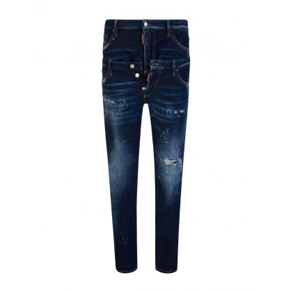 Blue Twin Pack Straight Leg Jeans
