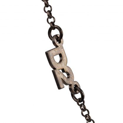 Silver D2 Lucky Logo-Plaque Bracelet