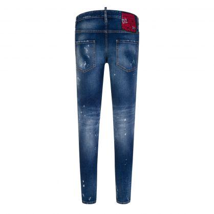 Blue Distressed D2 Skater Jeans