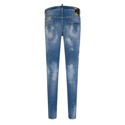 Blue Ripped & Paint-Stained Cool Guy Jeans