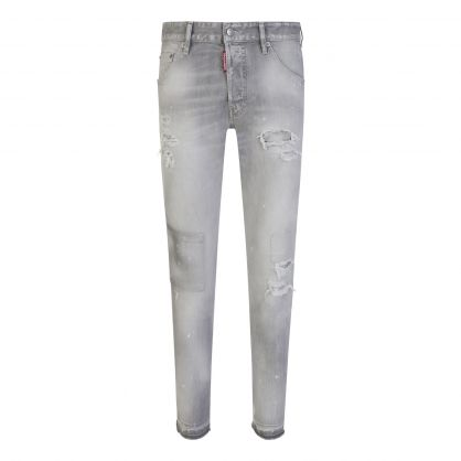 Grey 'Made With Love' Cool Guy Jeans