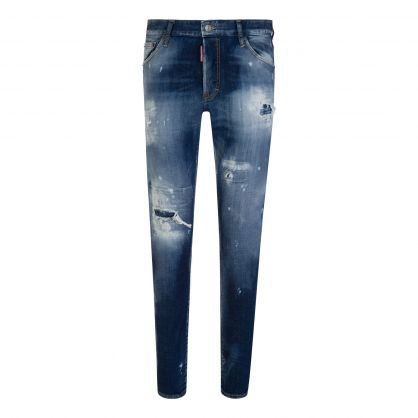Blue Distressed Cool Guy Jeans