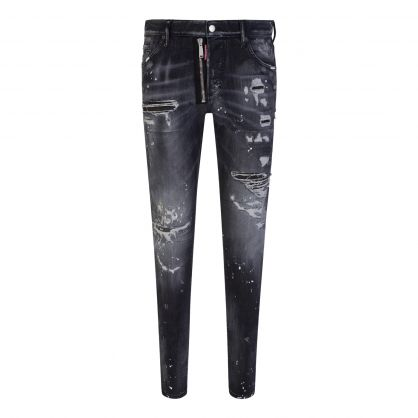 Black Milano Distressed Cool Guy Jeans