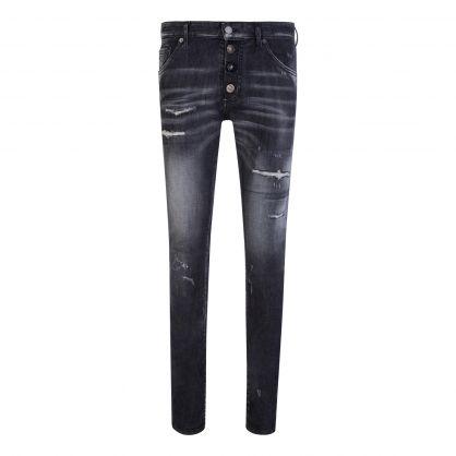 Black Slash Wash Cool Guy Jeans