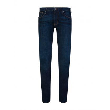 Blue J06 Slim-Fit Stretch Cotton Jeans