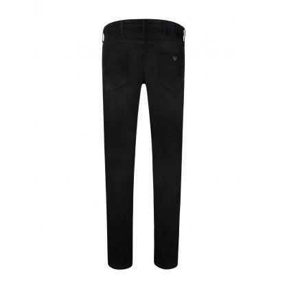 Black J06 Slim-Fit Stretch Cotton Jeans