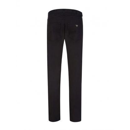 Black J45 Gabardine Jeans