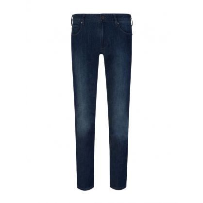 Dark Blue Denim Slim-Fit J06 Jeans