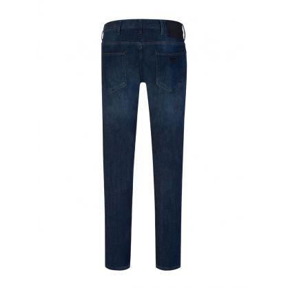 Dark Blue Denim Slim-Fit J06 Jeans